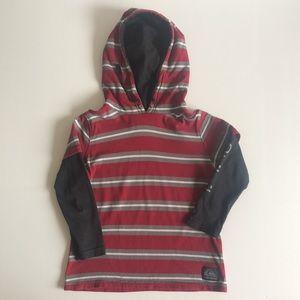 Quiksilver Boys Long Sleeve T-Shirt Hoodie 100% cotton Size 4